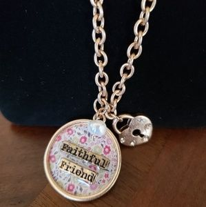 Jewelry - Faithful friend necklace and earring set